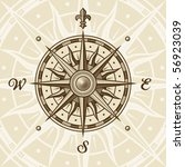 vintage compass rose. eps8... | Shutterstock .eps vector #56923039