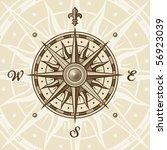 vintage compass rose. vector | Shutterstock .eps vector #56923039