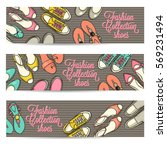 hand drawn horizontal banners... | Shutterstock .eps vector #569231494