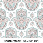 vector indian pattern with... | Shutterstock .eps vector #569234104