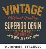 new york city superior denim ... | Shutterstock .eps vector #569235310