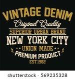 new york city vintage denim ... | Shutterstock .eps vector #569235328