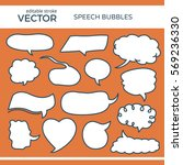 set of hand drawn comics style... | Shutterstock .eps vector #569236330