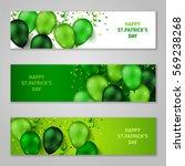 saint patrick's day horizontal... | Shutterstock .eps vector #569238268