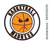 basketball madness vector.... | Shutterstock .eps vector #569243254