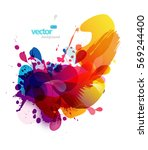 abstract colorful splash... | Shutterstock .eps vector #569244400