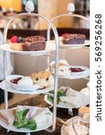 Small photo of Close up of Afternoon Tea Set. Soft Focus