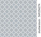 traditional quatrefoil lattice... | Shutterstock .eps vector #569256274