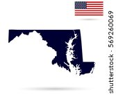 map of the u.s. state  maryland ... | Shutterstock .eps vector #569260069
