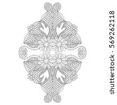 neckline embroidery design ...   Shutterstock .eps vector #569262118