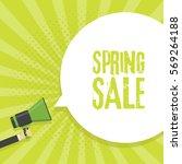 spring sale announcement... | Shutterstock .eps vector #569264188