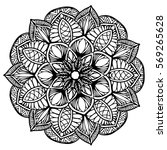 mandalas for coloring book.... | Shutterstock .eps vector #569265628