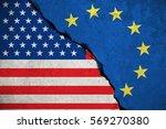 blue european union eu flag on...   Shutterstock . vector #569270380