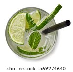 mojito cocktail or soda drink... | Shutterstock . vector #569274640