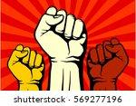 protest  rebel vector... | Shutterstock .eps vector #569277196