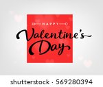 happy valentines day card with... | Shutterstock .eps vector #569280394