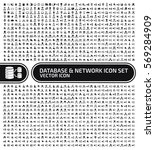database and network icon set... | Shutterstock .eps vector #569284909