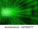 Abstract Binary Code 3d Vector...