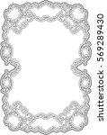 art ornate swirl frame isolated ...   Shutterstock . vector #569289430