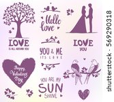 set of elements for design on... | Shutterstock .eps vector #569290318
