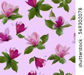 seamless pattern with flowers... | Shutterstock .eps vector #569302078