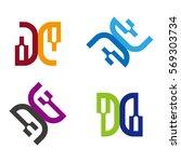 vector logo template. colorful... | Shutterstock .eps vector #569303734