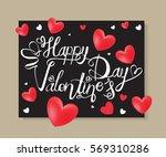 happy valentine's day letter...   Shutterstock .eps vector #569310286