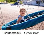 adorable little girl laughing...   Shutterstock . vector #569311024