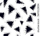 grunge geometric seamless... | Shutterstock .eps vector #569312854