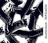 grunge geometric seamless... | Shutterstock .eps vector #569316034