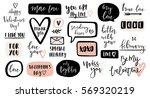 valentines day calligraphic... | Shutterstock .eps vector #569320219