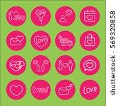 love wedding valentine day...   Shutterstock .eps vector #569320858