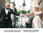adult wedding couple spreads... | Shutterstock . vector #569322394