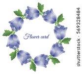 vector illustration. floral... | Shutterstock .eps vector #569328484