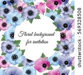 vector illustration. floral... | Shutterstock .eps vector #569328508