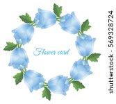 vector illustration. floral... | Shutterstock .eps vector #569328724