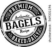 vintage bagels stamp imprint... | Shutterstock .eps vector #569331196