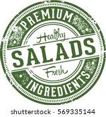 Fresh Healthy Salads Vintage...