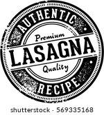 vintage lasagna italian food... | Shutterstock .eps vector #569335168