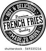vintage french fries menu... | Shutterstock .eps vector #569335216