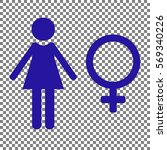 female sign illustration. blue...