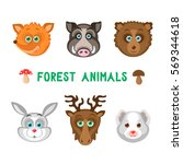 vector illustration of forest... | Shutterstock .eps vector #569344618