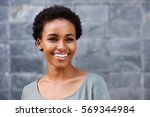 close up portrait of smiling... | Shutterstock . vector #569344984