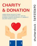 charity and donation banner... | Shutterstock .eps vector #569350690