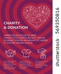 charity and donation banner... | Shutterstock .eps vector #569350816