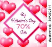 big valentines day sale 70... | Shutterstock .eps vector #569352544