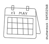calendar icon in outline style...