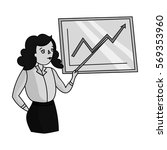 businesswoman and growing... | Shutterstock .eps vector #569353960
