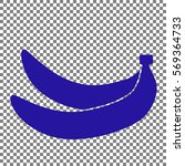 banana simple sign. blue icon... | Shutterstock .eps vector #569364733