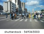 pedestrian crossing in kinshasa ... | Shutterstock . vector #569365003